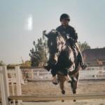 Hillary on horse